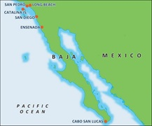 - Baja Mexico Region Map