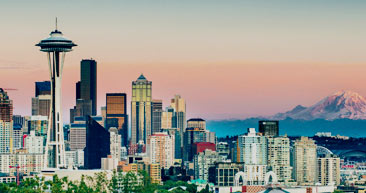 view seattle's famous cityscape including the space needle