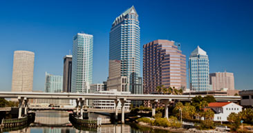 view of  tampa skyline