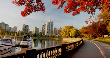view vancouver's skyline while strolling through the streets
