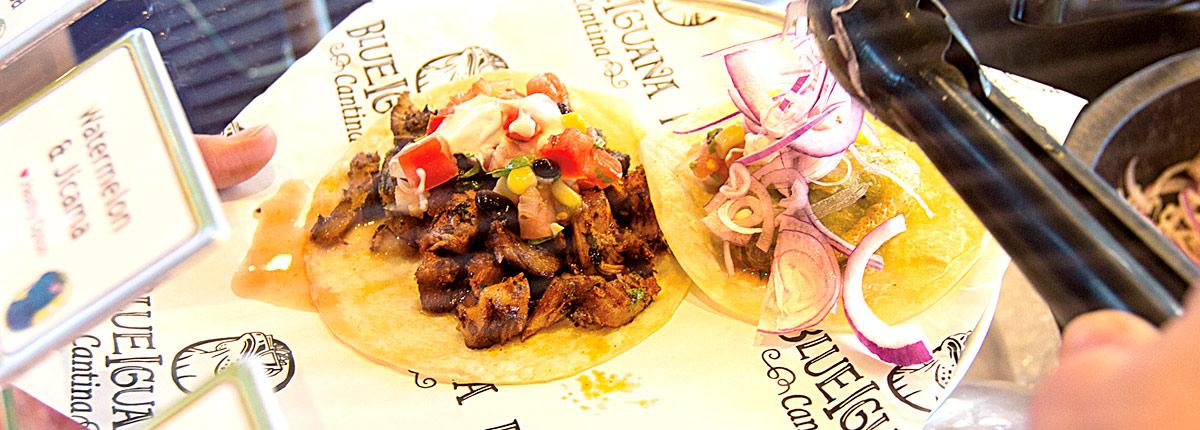 Enjoy freshly made tacos and burritos