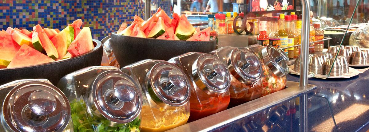 BlueIguana Cantina salsa bar