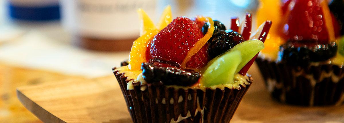 Cupcakes at coffee bar