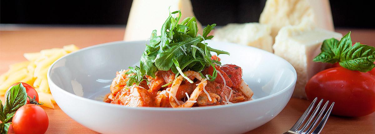italian-american dishes at cucina del capitano