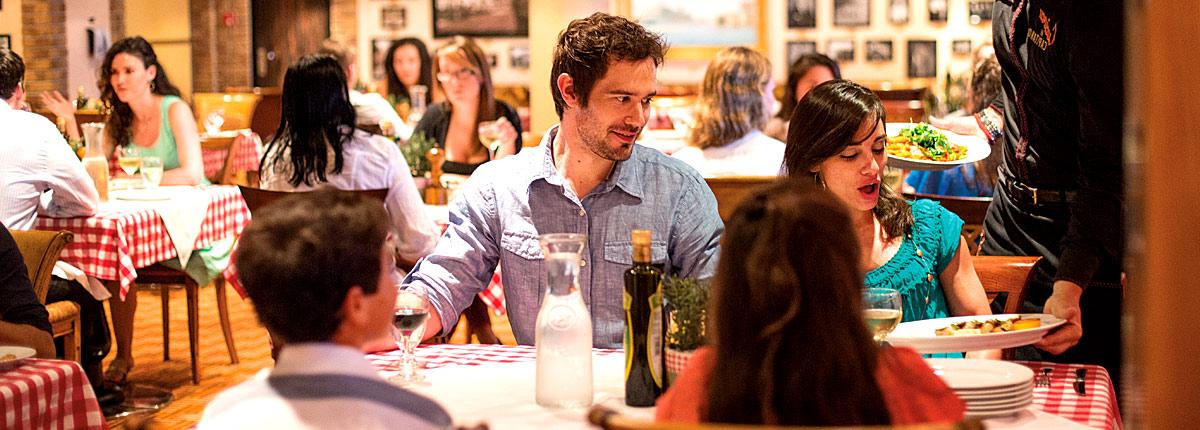 Family-style Italian dining