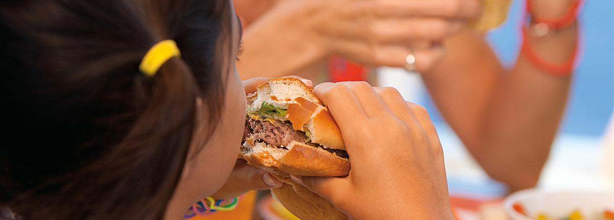 Kids menu sandwiches
