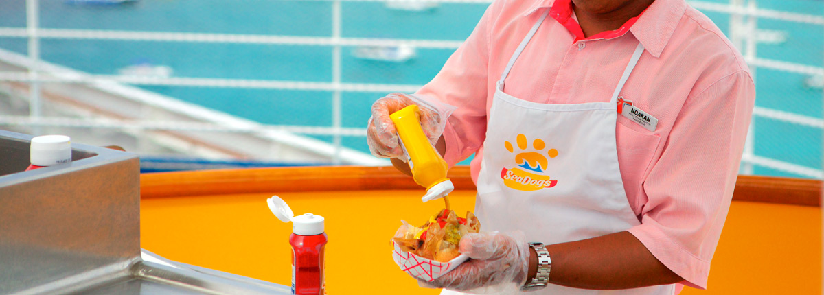 All-beef hot dog — free with your favorite toppings