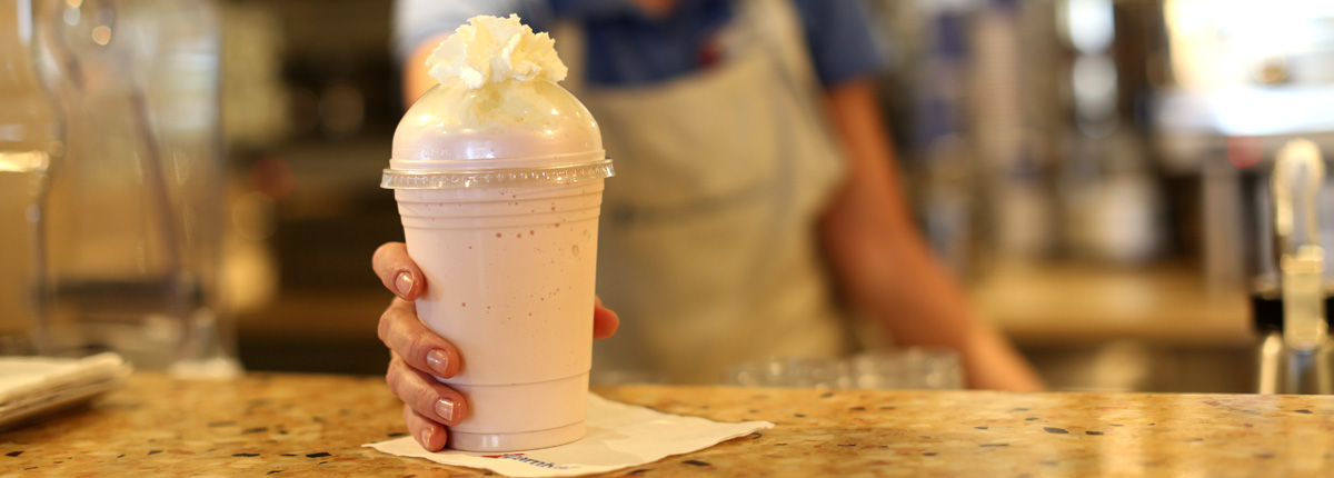Tempting, handcrafted shakes and indulgent floats
