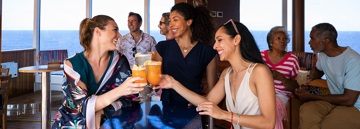 grab a delicious cocktail at the blue iguana bar