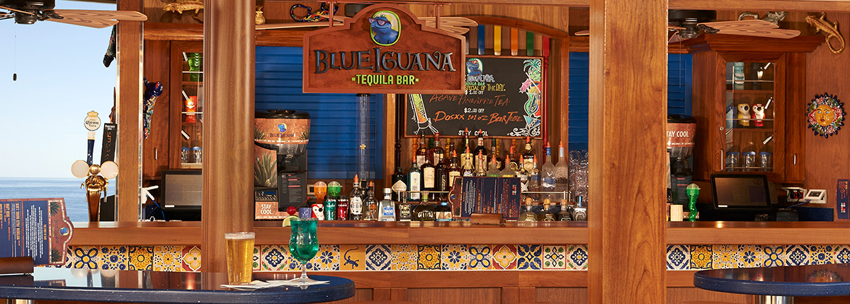 blue iguana tequila bar on carnival cruise lines