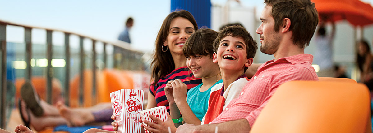 watch a movie on board carnival cruises