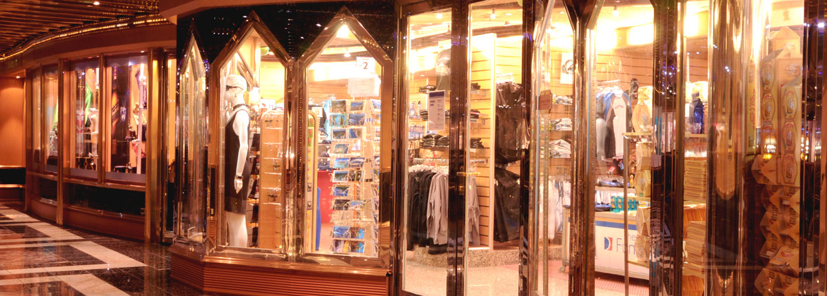 Shopping onboard cruise