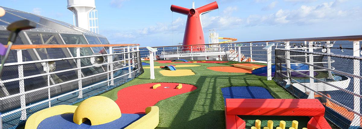 mini golf on cruise ships