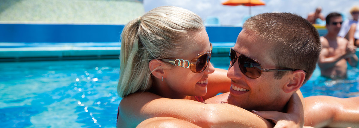 swim in the pool on carnival cruises