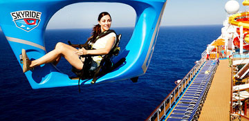 enjoy views from the carnival cruise skyride