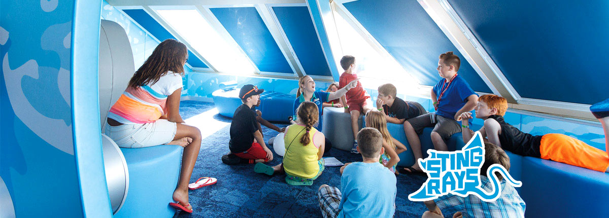 Storytelling at camp ocean