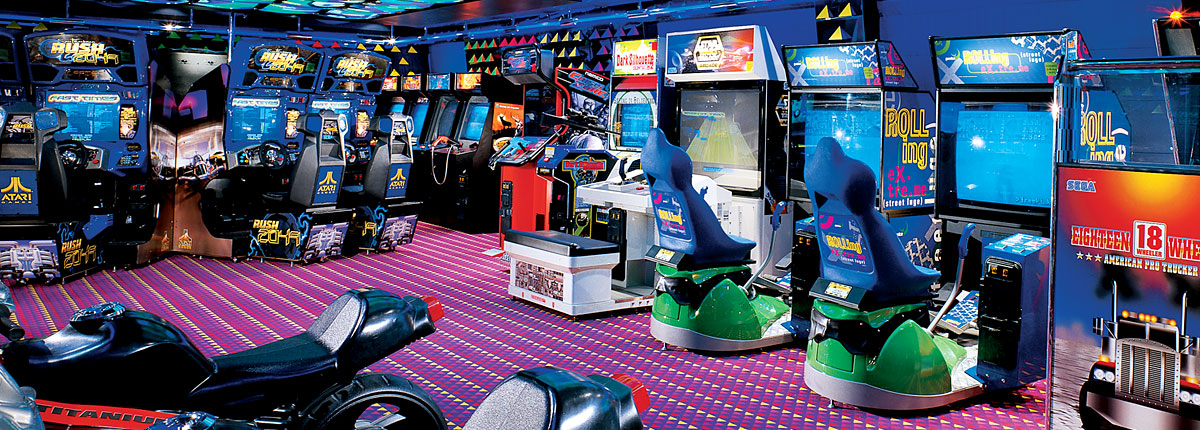 latest and greatest high-tech video and arcade games